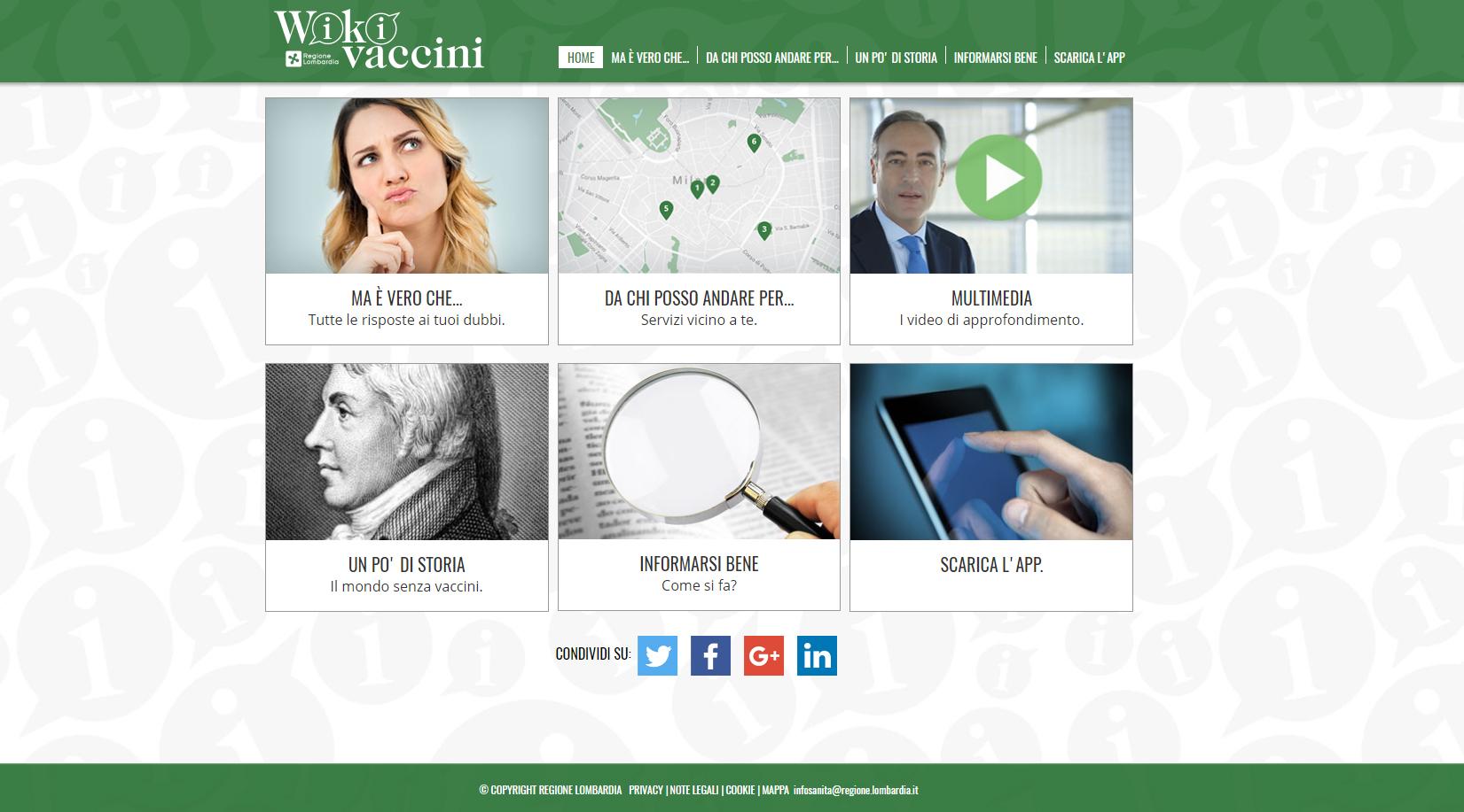 Wikivaccini, il sito della Regione Lombardia per la ...